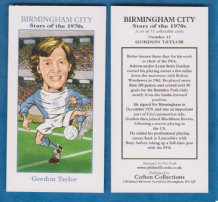 Birmingham City Gordon Taylor 11